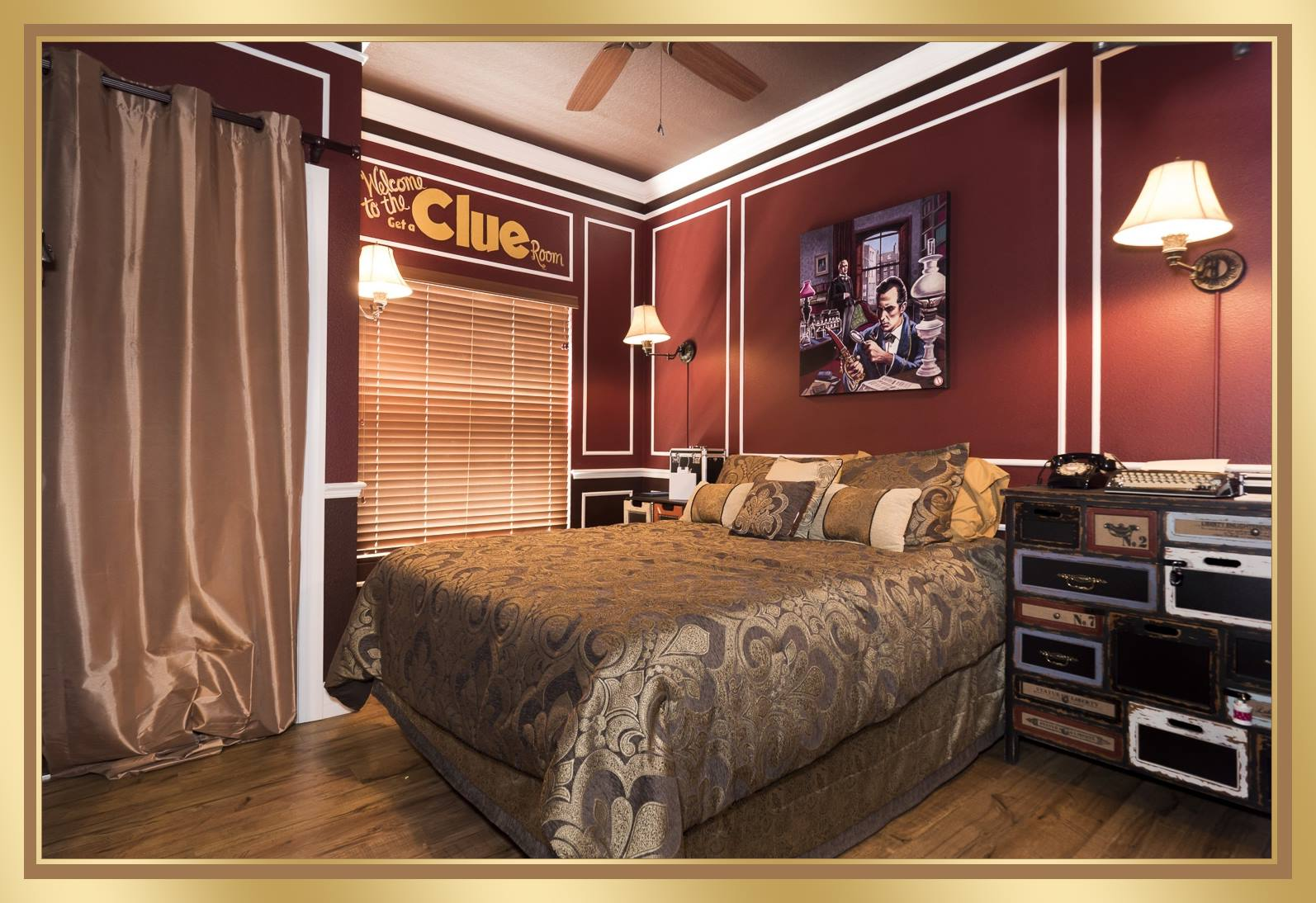 "The ""Get A CLUE"" Escape Room Game & Bedroom At The Great"