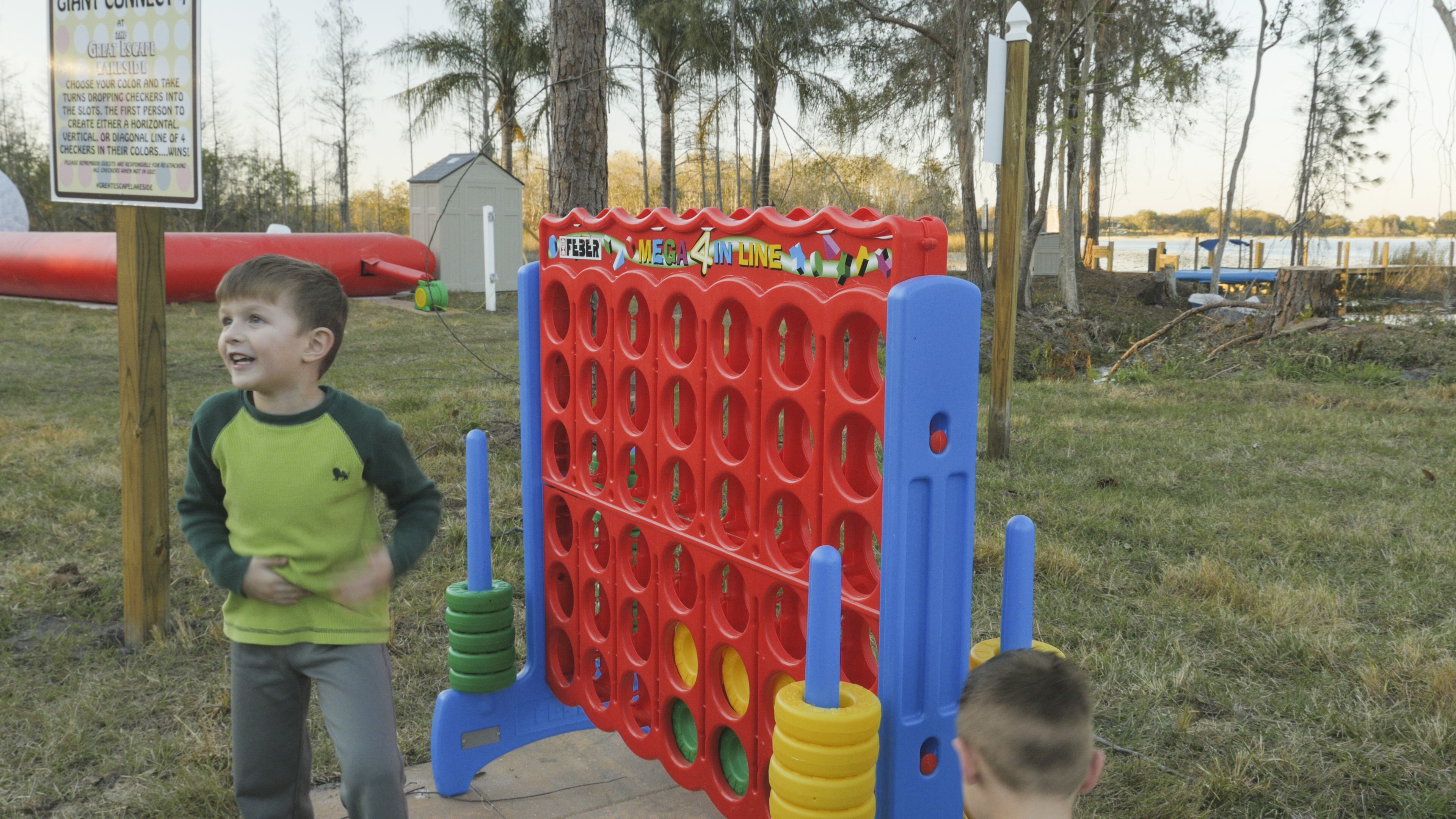 Giant connect four at the great escape lakeside for The great escape house