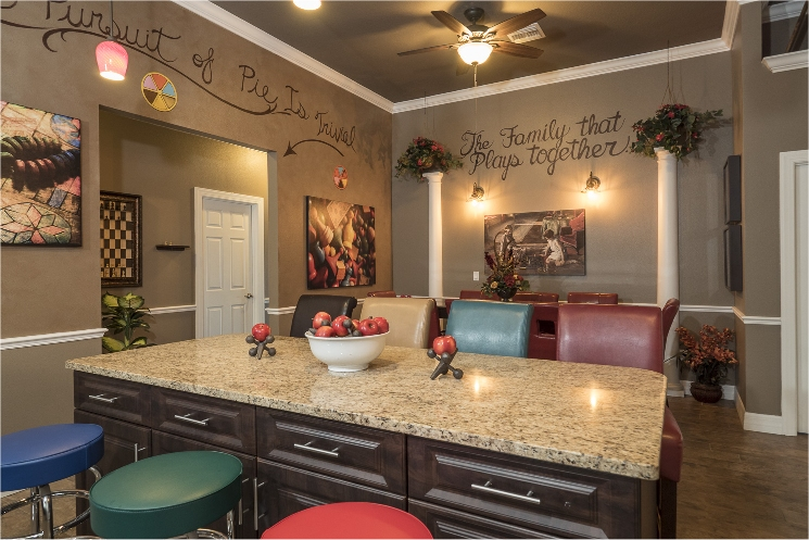 Orlando Area Luxury Vacation Rental Home - Luxury Kitchen and Dining at The Great Escape Lakeside