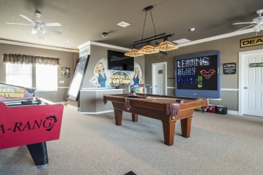 Game room at The Great Escape Lakeside vacation rental
