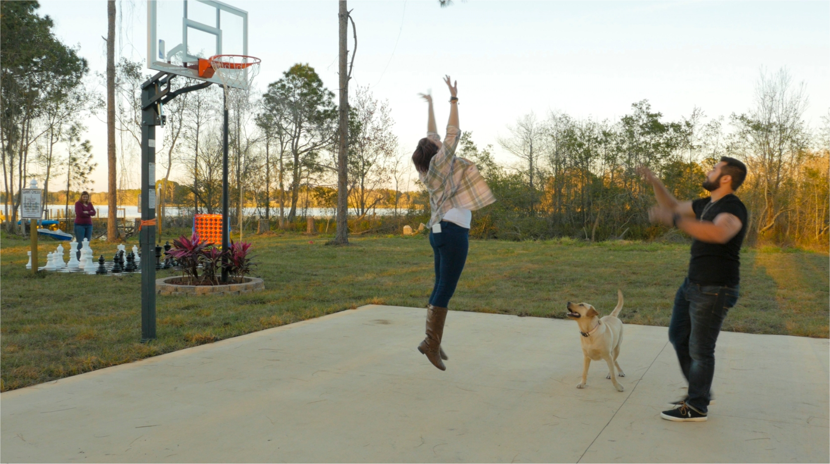 Play basketball, tetherball, and volleyball at The Great Escape Lakeside luxury rental