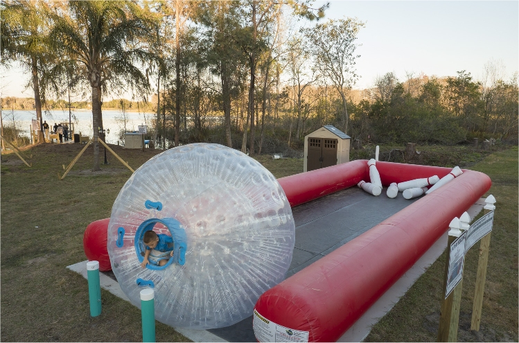 Zorb Bowling at The Great Escape near Orlando, Florida and Walt Disney World