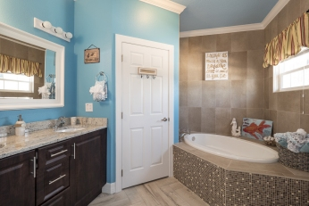 Luxury Themed Bathrooms At The Great Escape Lakeside Vacation Rental Near Orlando