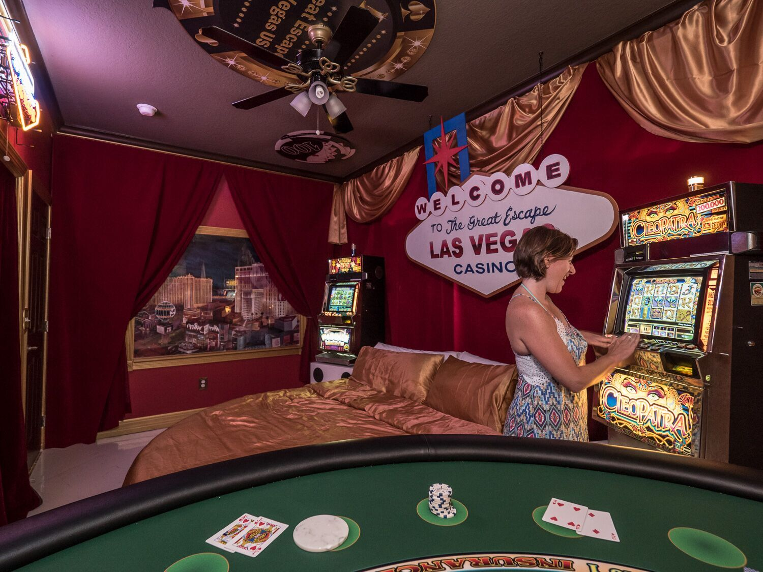 Las Vegas Casino Games Master Suite #2 at Florida - Disney-Area Vacation Rental - with slot machines!