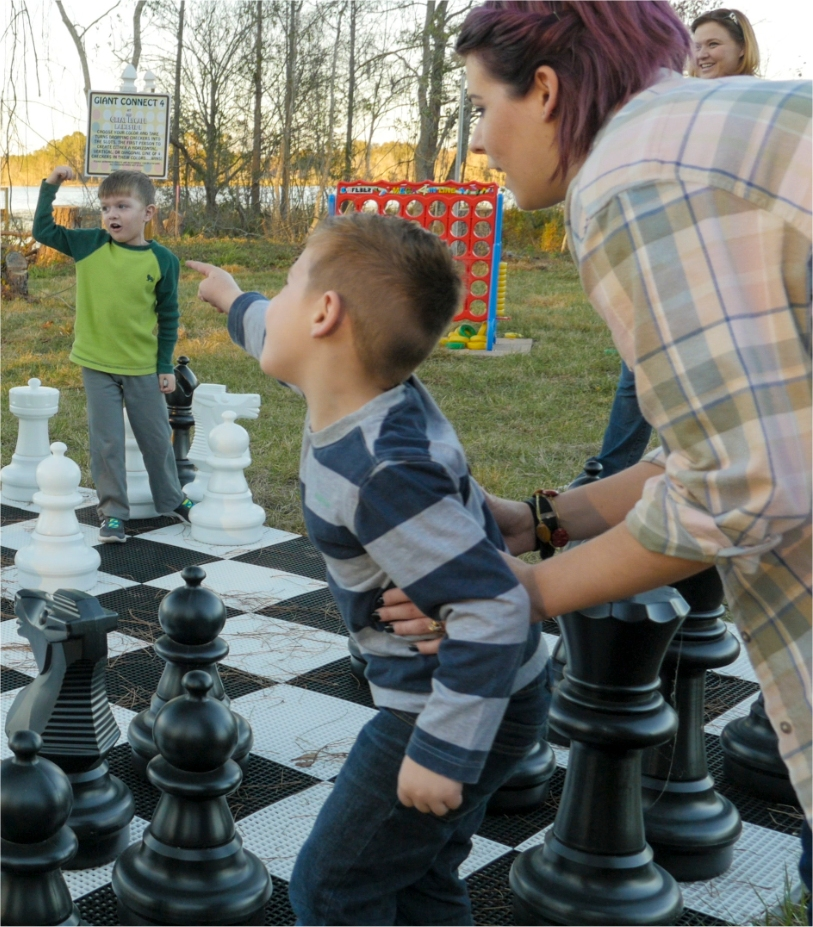 Play giant chess at The Great Escape Lakeside