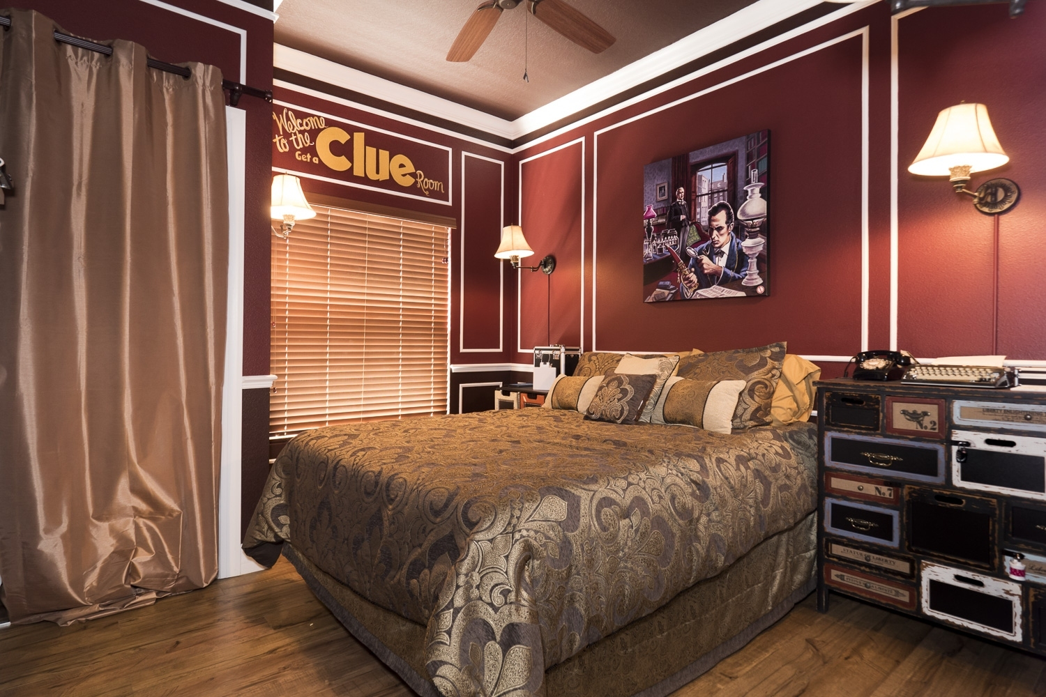 The get a clue escape room game bedroom at the great for Small room escape 12