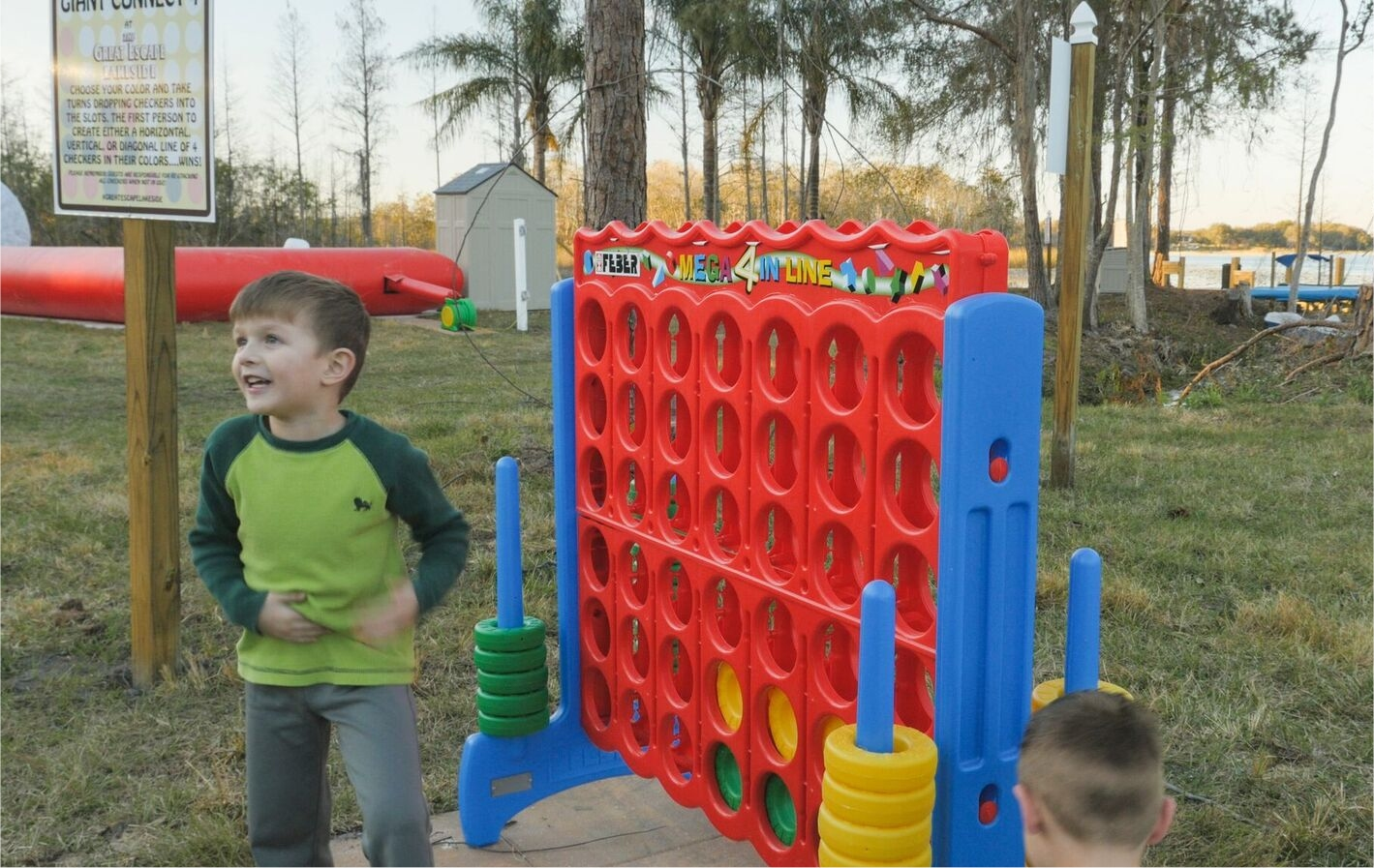 Play Connect 4 Outdoors at The Great Escape Lakeside Vacation Rental Home near Orlando, FL and Walt Disney World
