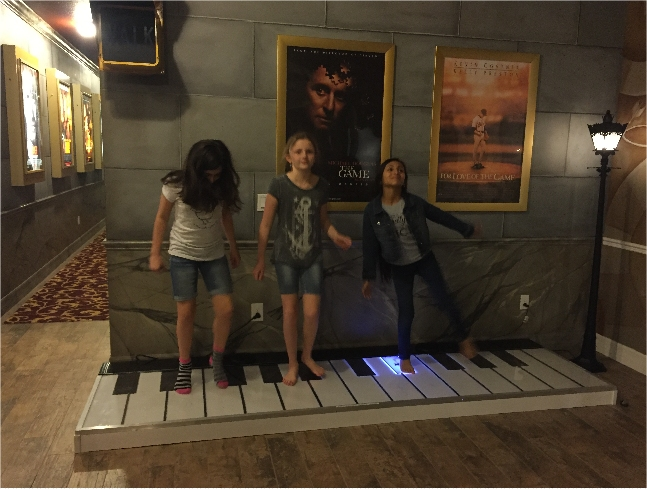 Stand on the Giant Floor Piano at The Great Escape Lakeside Retreat near Orlando, FL