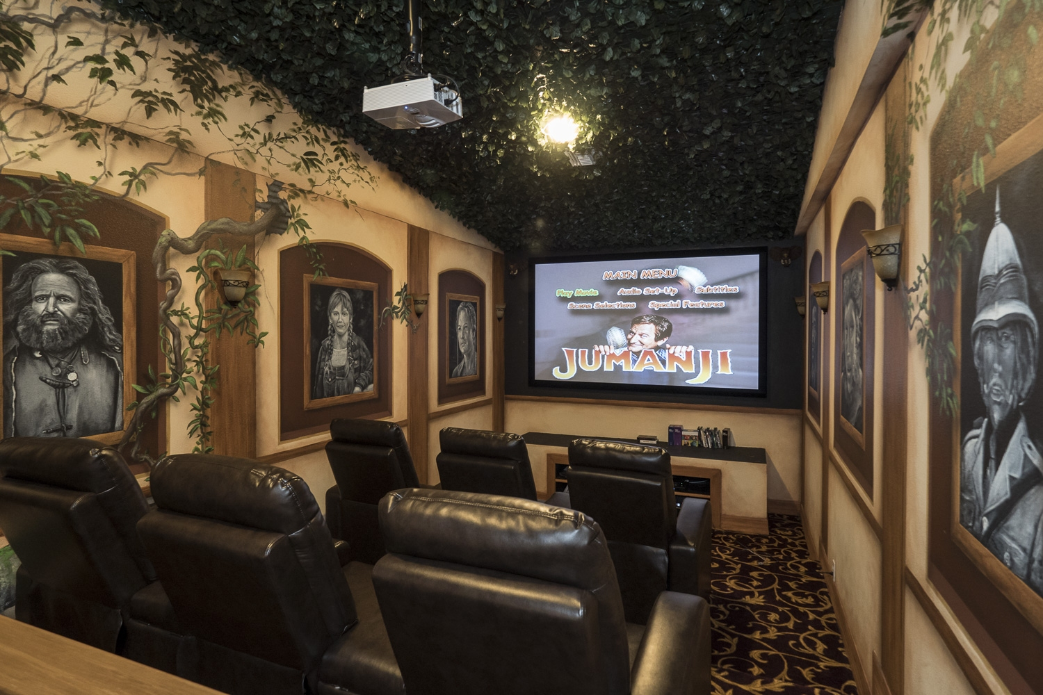 excellent home theater design at Florida home