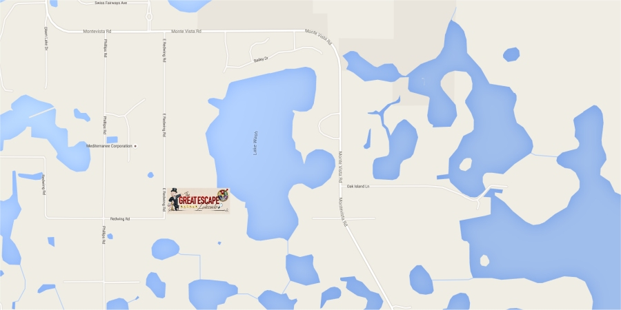 Map of Lake Walsh and Surrounding Vicinty - Clermont FL - Great Escape Lakeside near Groveland