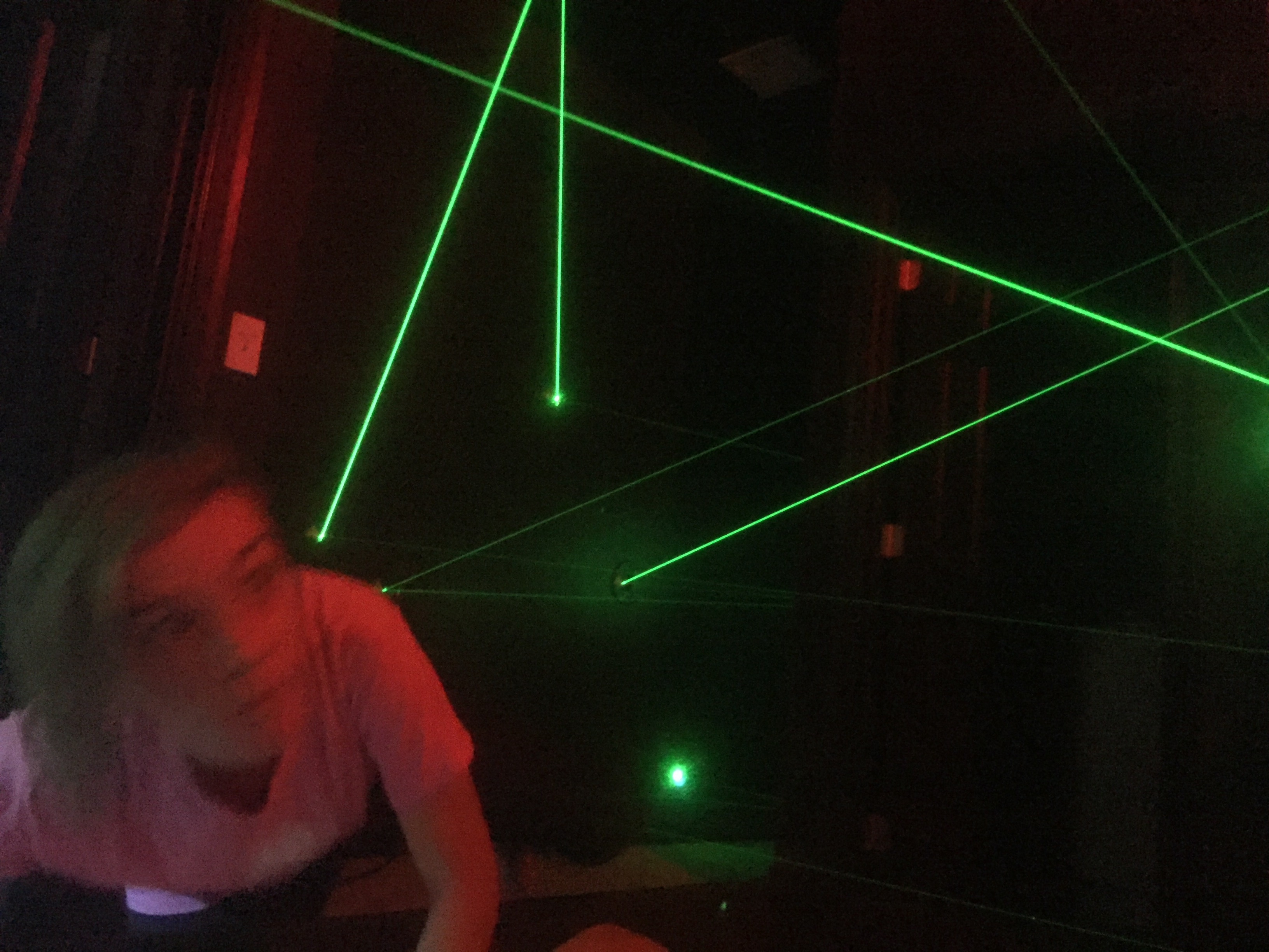 Laser Maze Laser Tag In A BEDROOM At The Great Escape Lakeside - Laser lights for bedroom