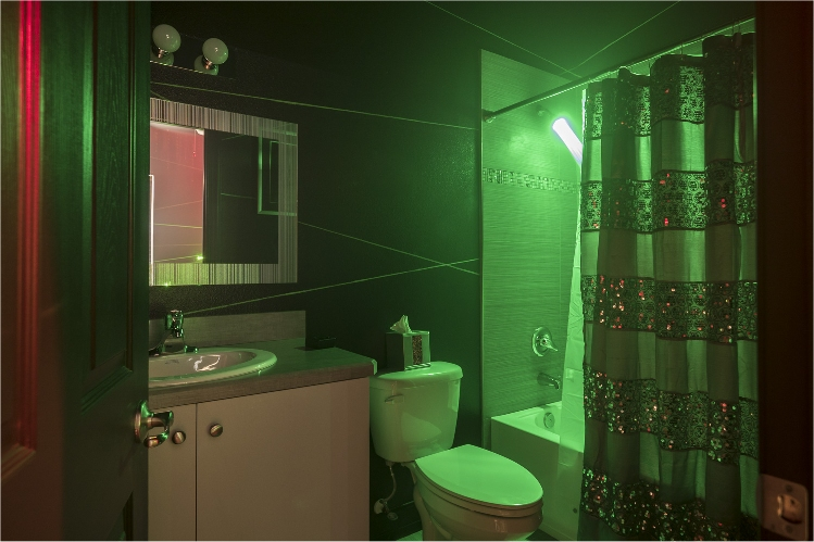 The Laser Maze Bathroom