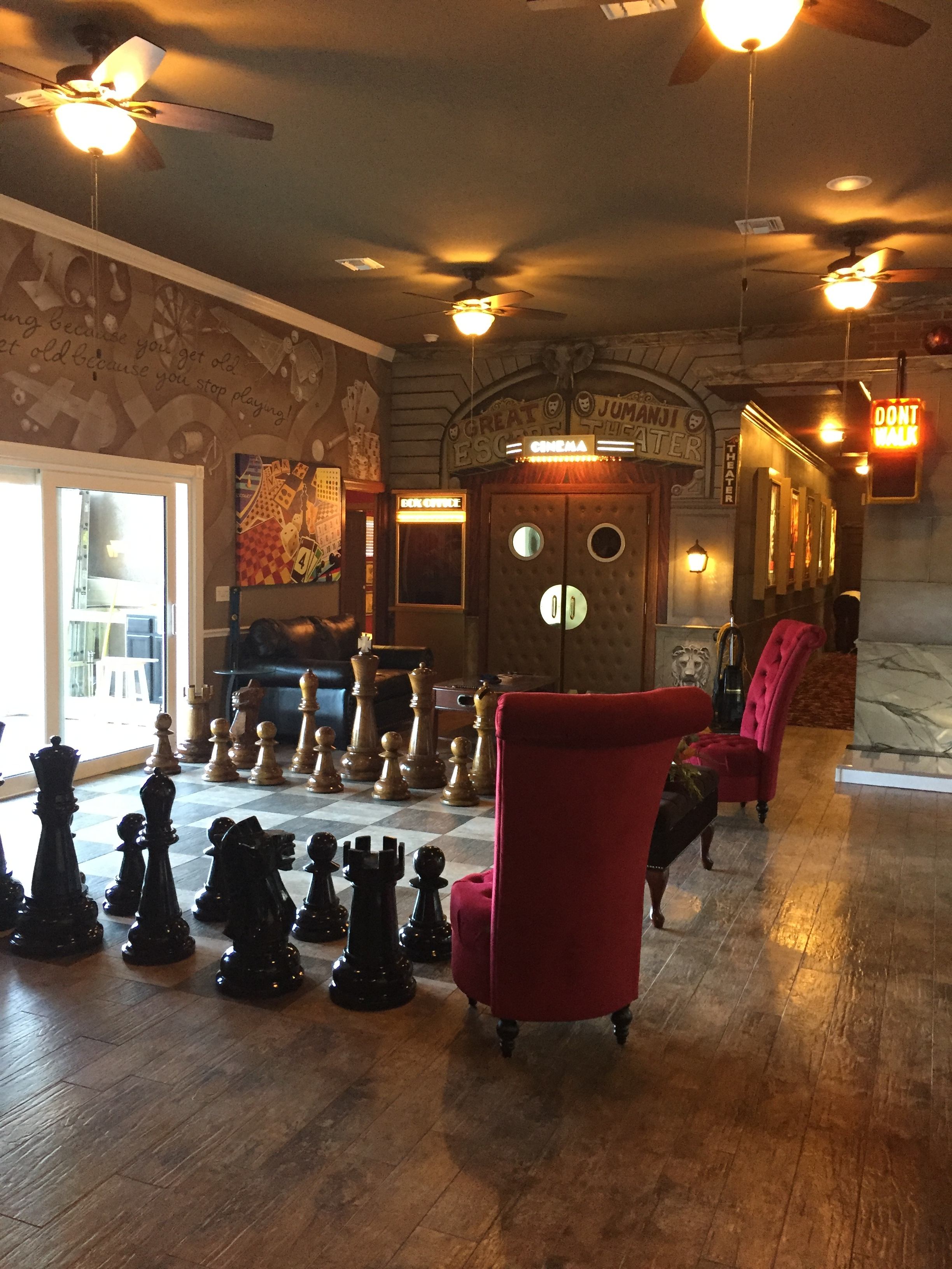 The Formal Living Room Of The Great Escape Lakeside   With Giant Chess Part 82
