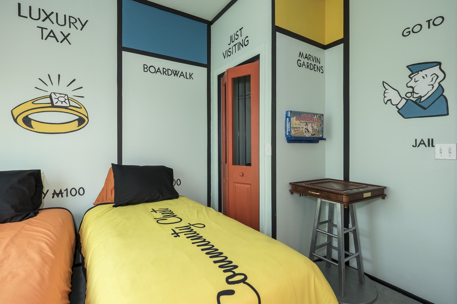 Monopoly themed bedroom