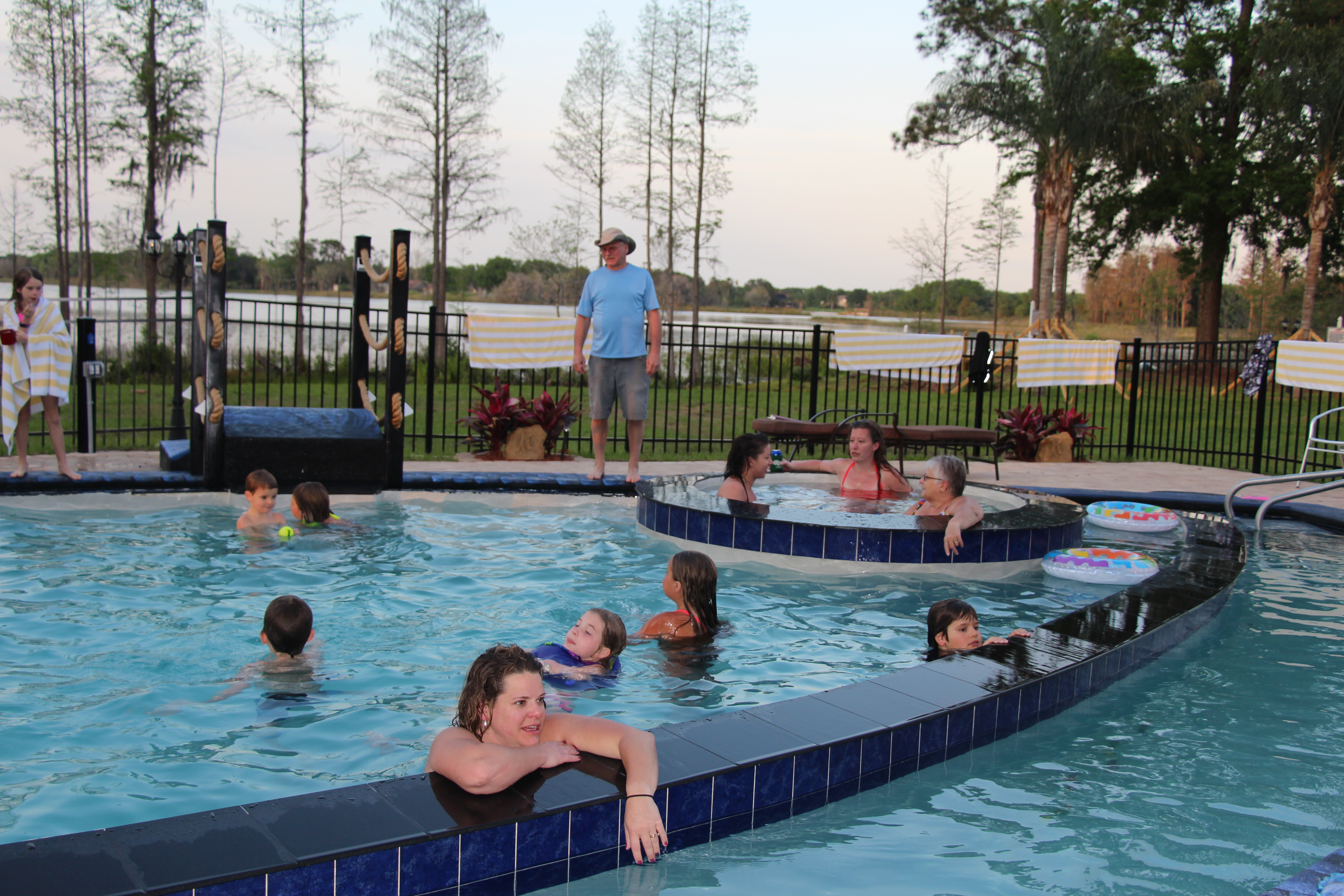 Pool with Lazy River and Waterslide at The Great Escape Lakeside