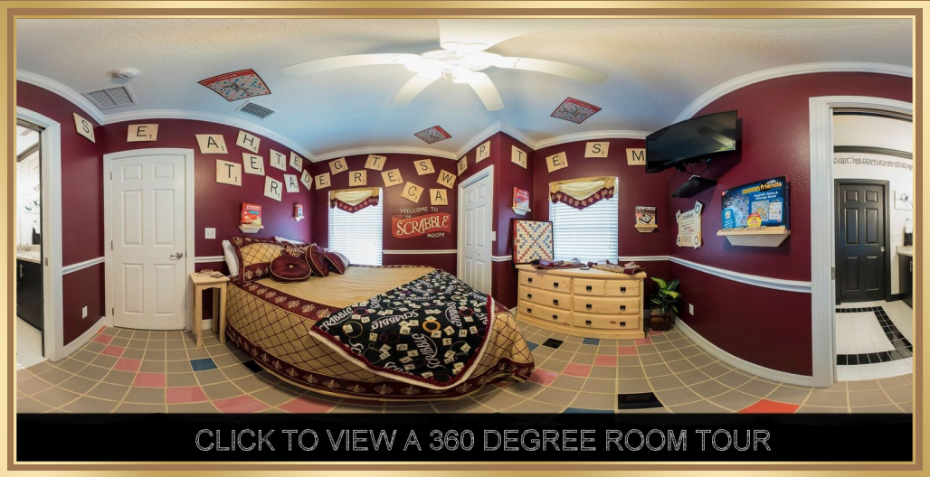 An actual Scrabble Bedroom ! - At The Great Escape Lakeside