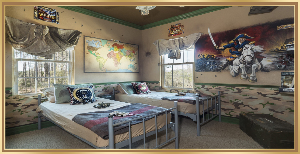 Gorgeous War Games bedroom at Florida vacation home rental