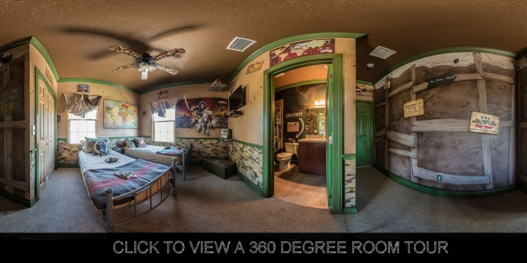 360 degree tour of the war games (stratego, risk, etc;) bedroom at The Great Escape Lakeside