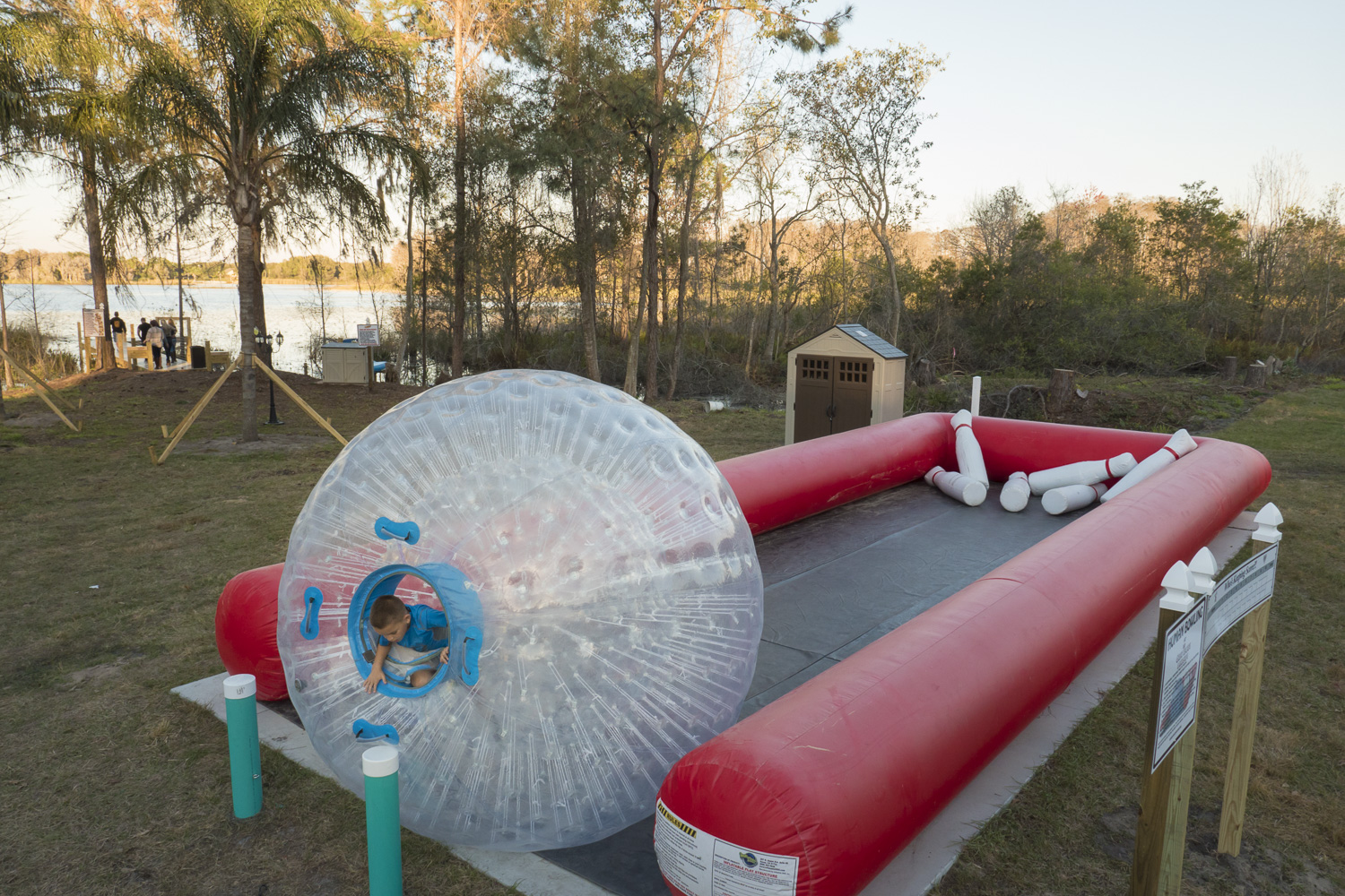 Human Bowling In A Zorb Ball At The Great Escape Lakeside