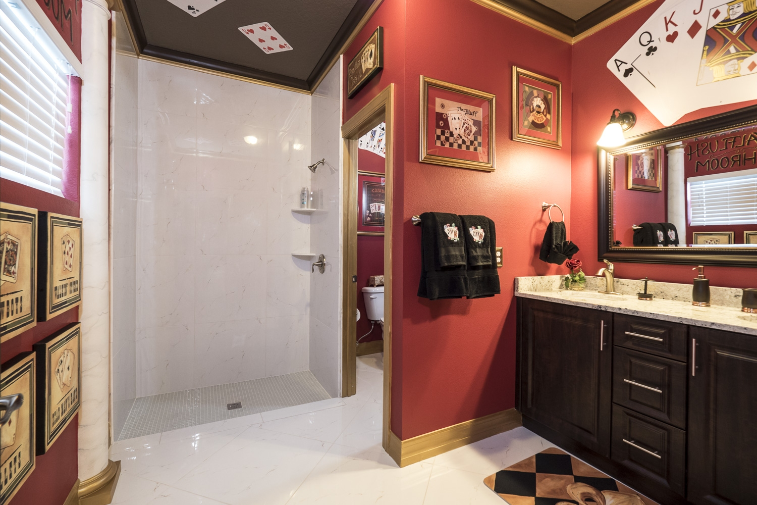 Casino Games Bedroom And Ensuite Royal Flush Bathrom At
